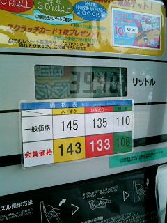 ガソリン価格上昇中