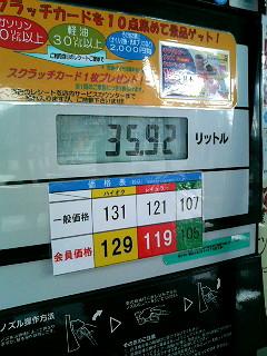 1/9のガソリン価格
